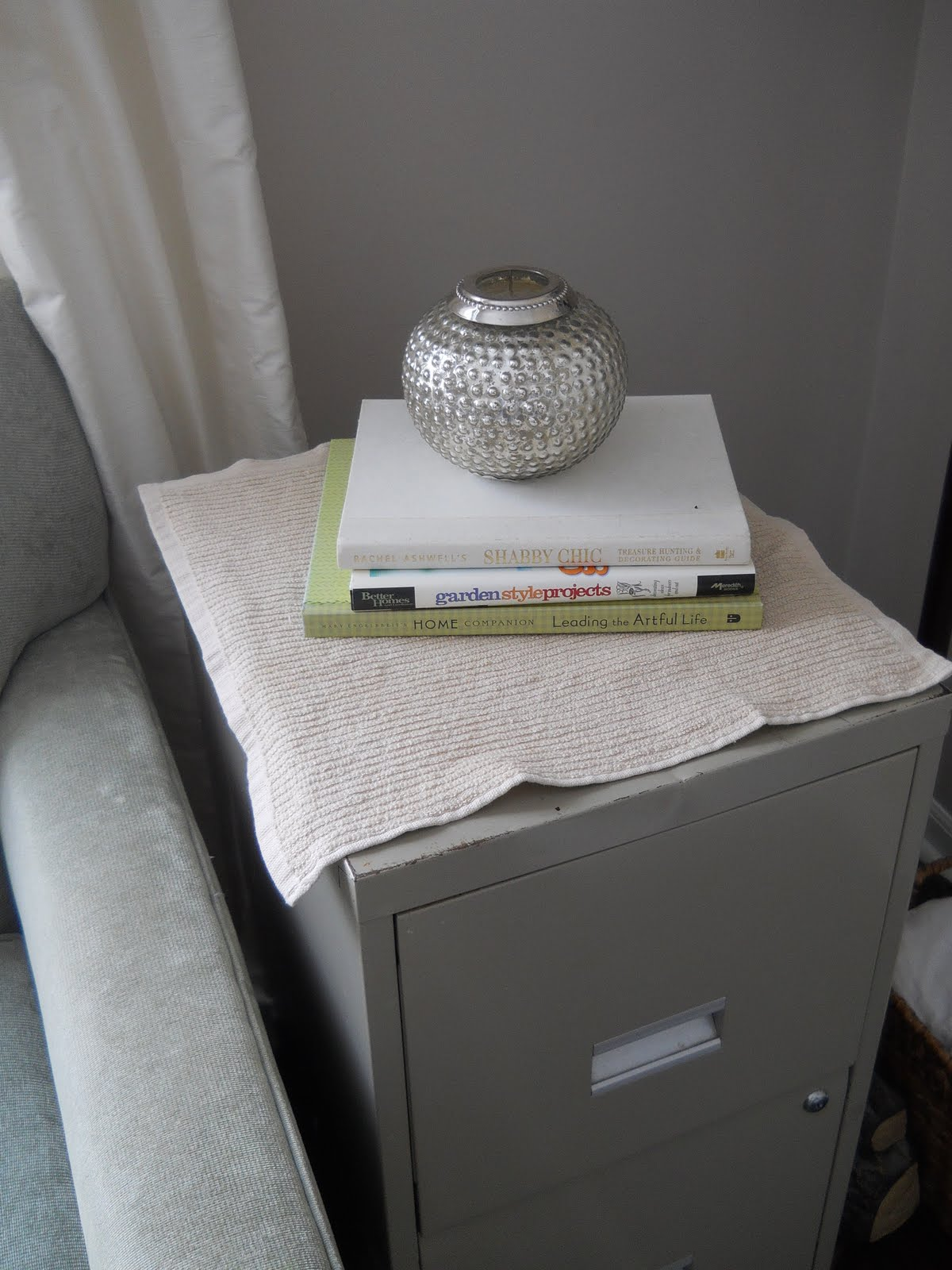 Homey Home Design A Slip Covered Filing Cabinet