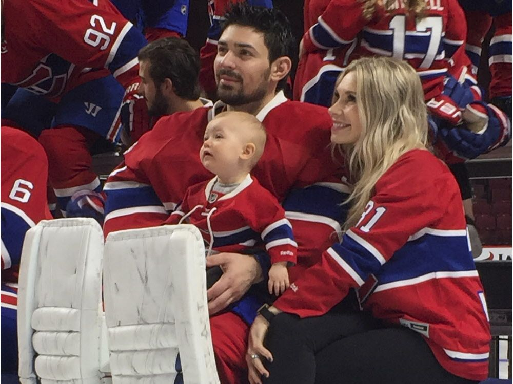Carey Price With Wife Angela And Daughter Liv Anniston Durin Jpeg