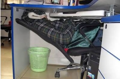 Imagen divertida durmiendo en el trabajo