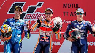 MOTO GP - Marc Márquez suma y sigue y lidera un triplete español en el GP de Holanda