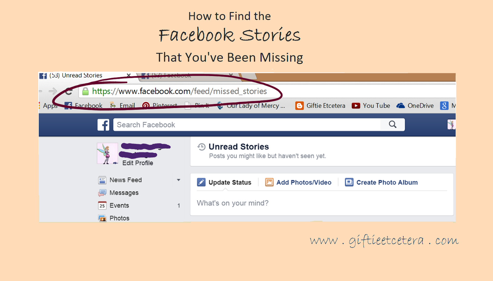Facebook missed stories surface pro 3 tricks