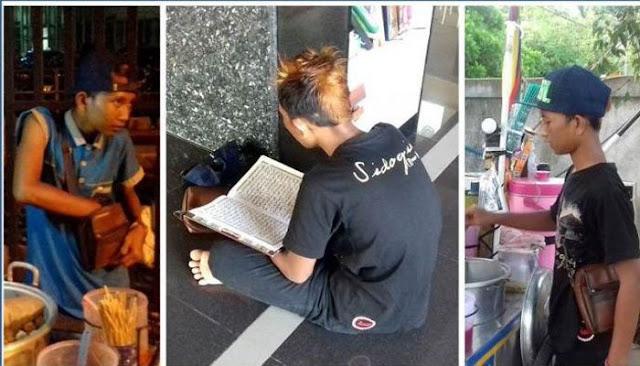 Penjual Cilok Ini Ternyata Hafidz Al-Qur'an 25 Juz