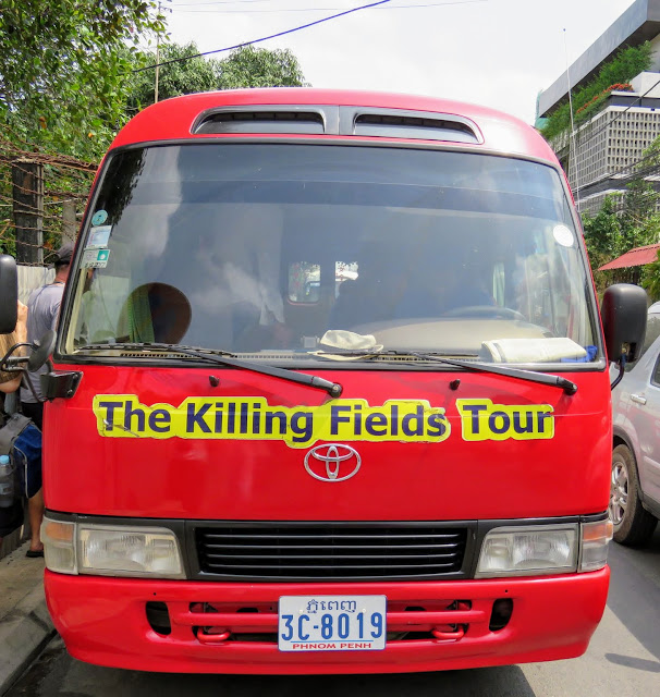Phnom Penh Hop-on Hop-off Bus en route to the Choeung Ek Killing Fields