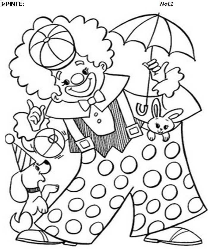 Desenhos Para Pintar: Desenhos De Palhaços De Carnaval
