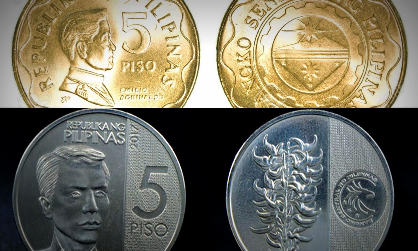 5 Philippine Peso Coin Denomination