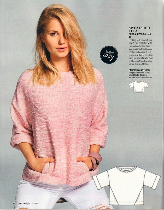 Burda Magazine Kimono Sweatshirt Following The Thread