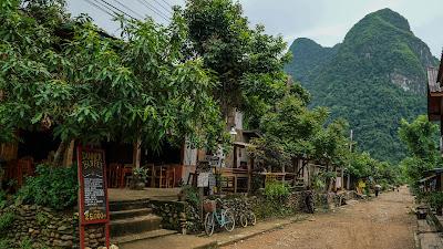 Main strip in Muang Ngoi Neua