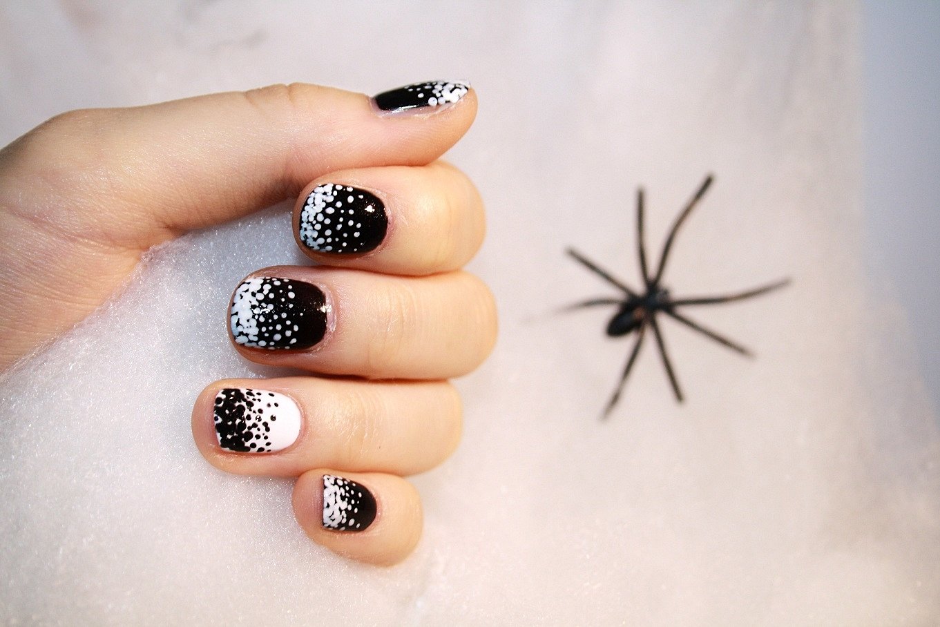 Nagelmuster 2016 Halloween Special Nails Black And White Sommerland