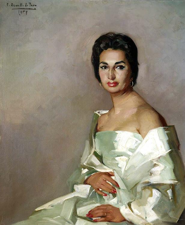 Retrato de Marita, Félix Revello de Toro, Revello de Toro, Pintores Malagueños, Retratos de Revello de Toro, Pintor español, Pintores de Málaga