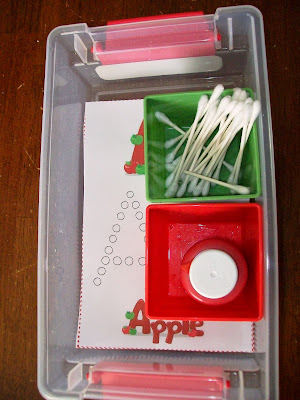 A is for apple Q-tip activity