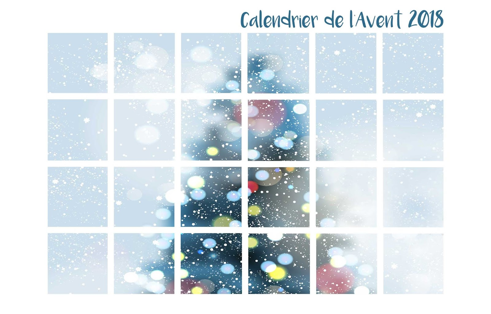 Calendrier de l'avent feel good