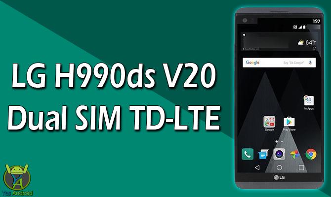 LG H990ds V20 Dual SIM TD-LTE Full Specs Datasheet