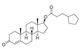 formula estrutura quimica cipionato de testosterona