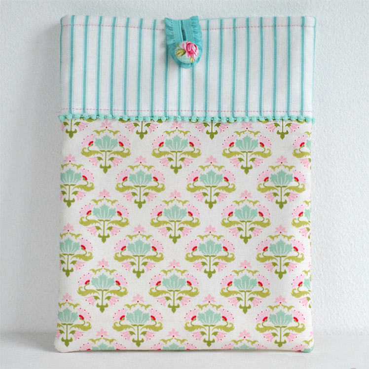 Pretty Ipad Case Sewing Tutorial. How-to step by step