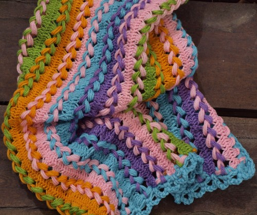 Hairpin Lace Baby Blanket - Free Pattern