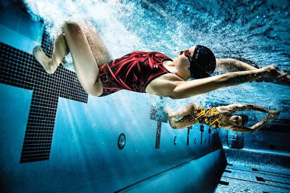 In poster quảng cáo giá rẻ, poster khổ lớn chuyên nghiệp tại Hà Nội Swimming