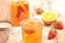 Strawberry Orange Refrigerator Iced Tea