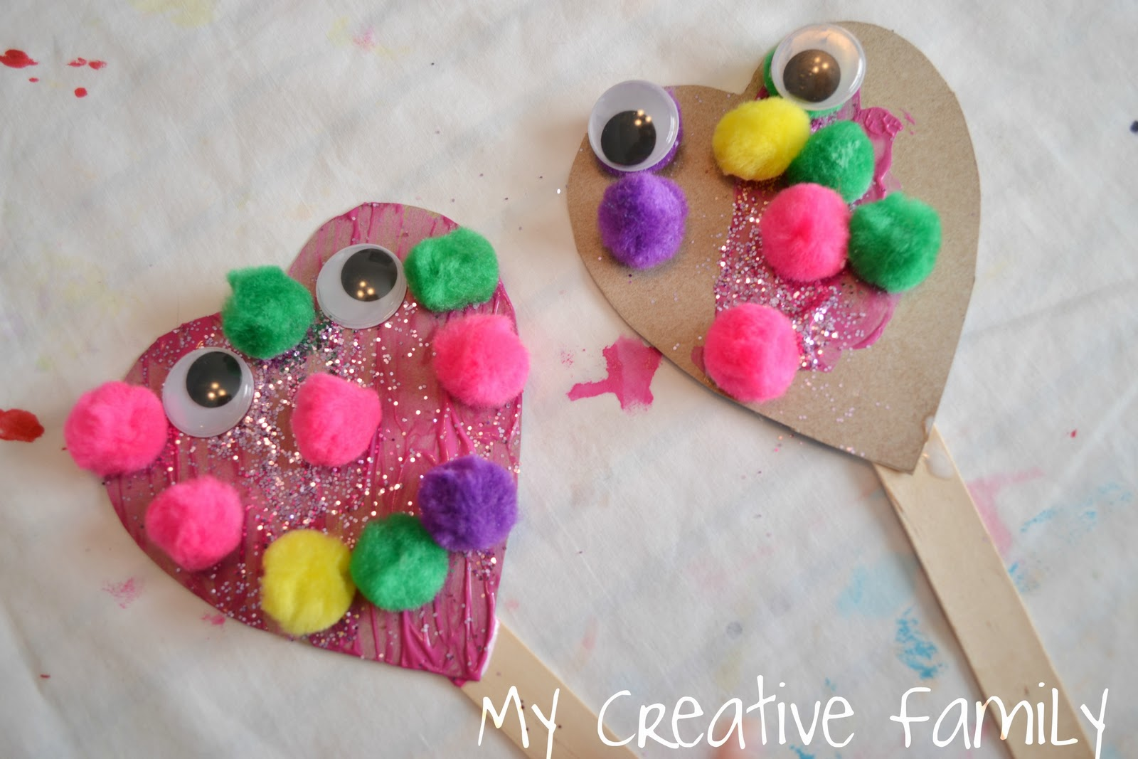 Preschool Crafts For Kids Valentine S Day Heart Puppets Craft
