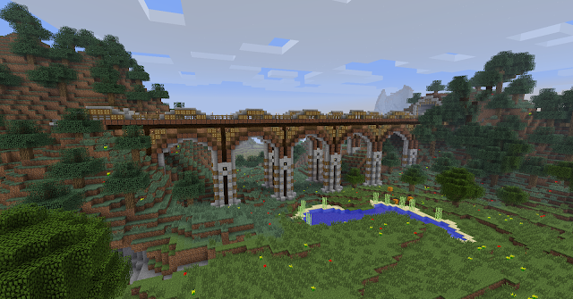 Le pont Notebridge minecraft.