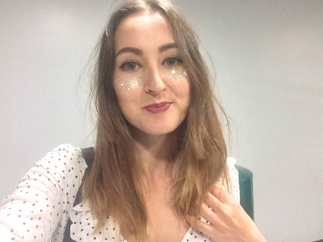 Selfie of glitter face