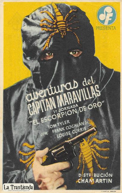 Aventuras del Capitán Maravillas - Programa de Cine - Tom Tyler - Louise Currie