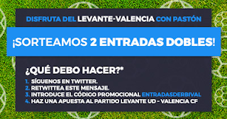 Paston Promoción sorteo Entradas Levante vs Valencia 13-15 septiembre