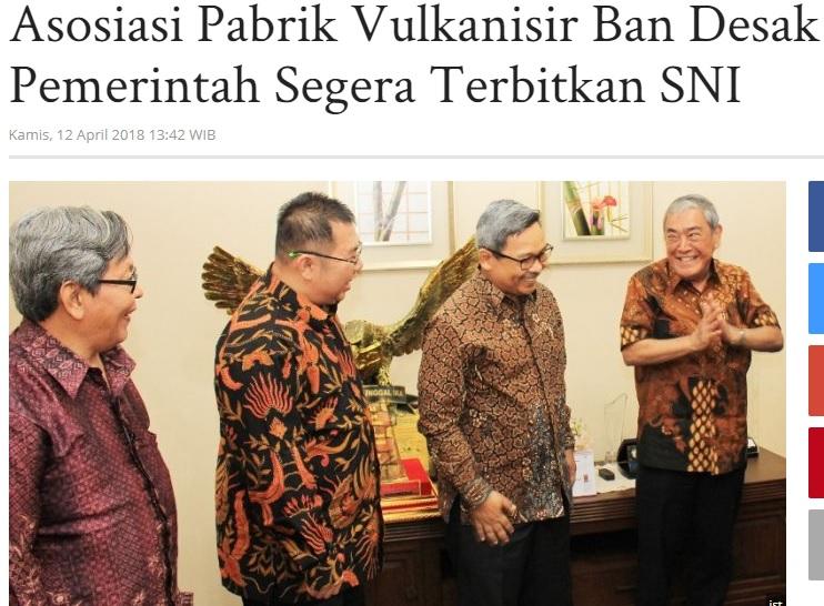 Asosiasi Pabrik Vulkanisir Ban Desak Pemerintah Segera Terbitkan SNI