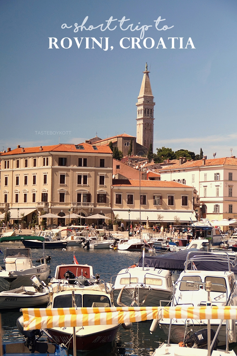 The sunny Croatian harbour town Rovinj is a great destination for your next summer vacation!