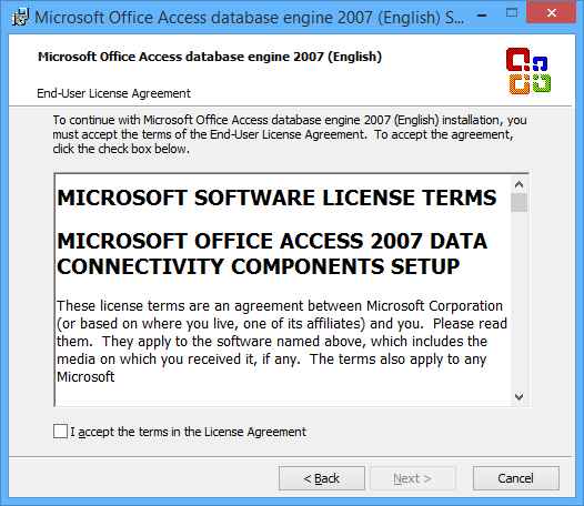 Office 2007 system driver.