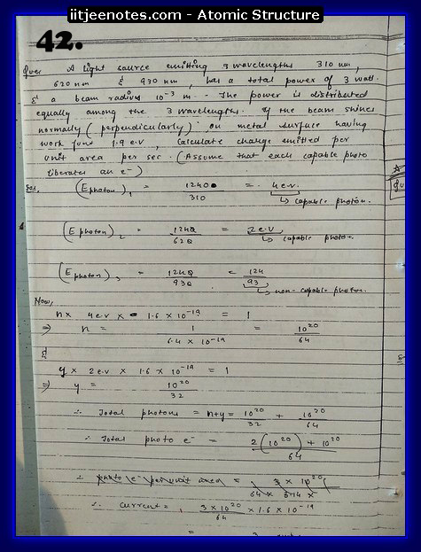 Atomic Structure Notes IITJEE9