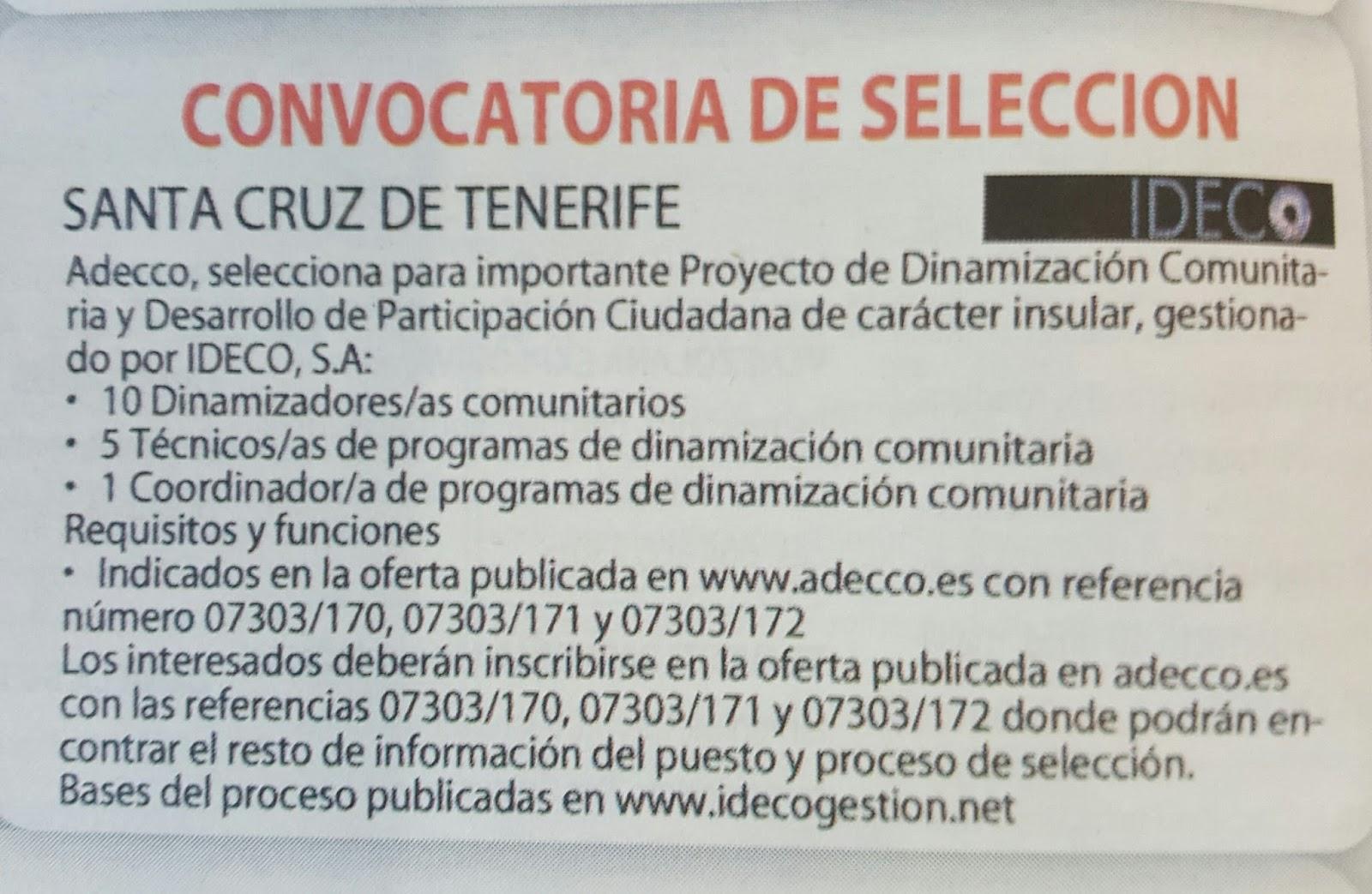 Fpempleo 19 Ofertas Empleo En Tenerife Ideco