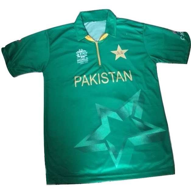 Buy online t20 world cup 2016 pakistan t shirt kit for for I support two teams t shirt