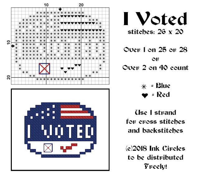 chart for I Voted freebie