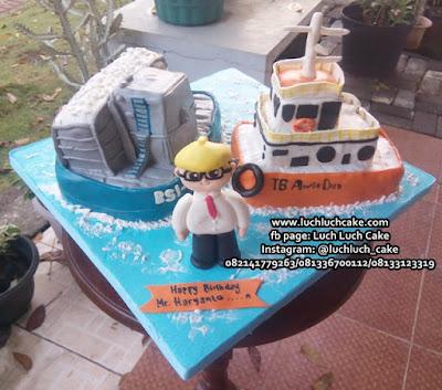 Kue Tart 3d Fondant Bentuk Kapal Batu Bara