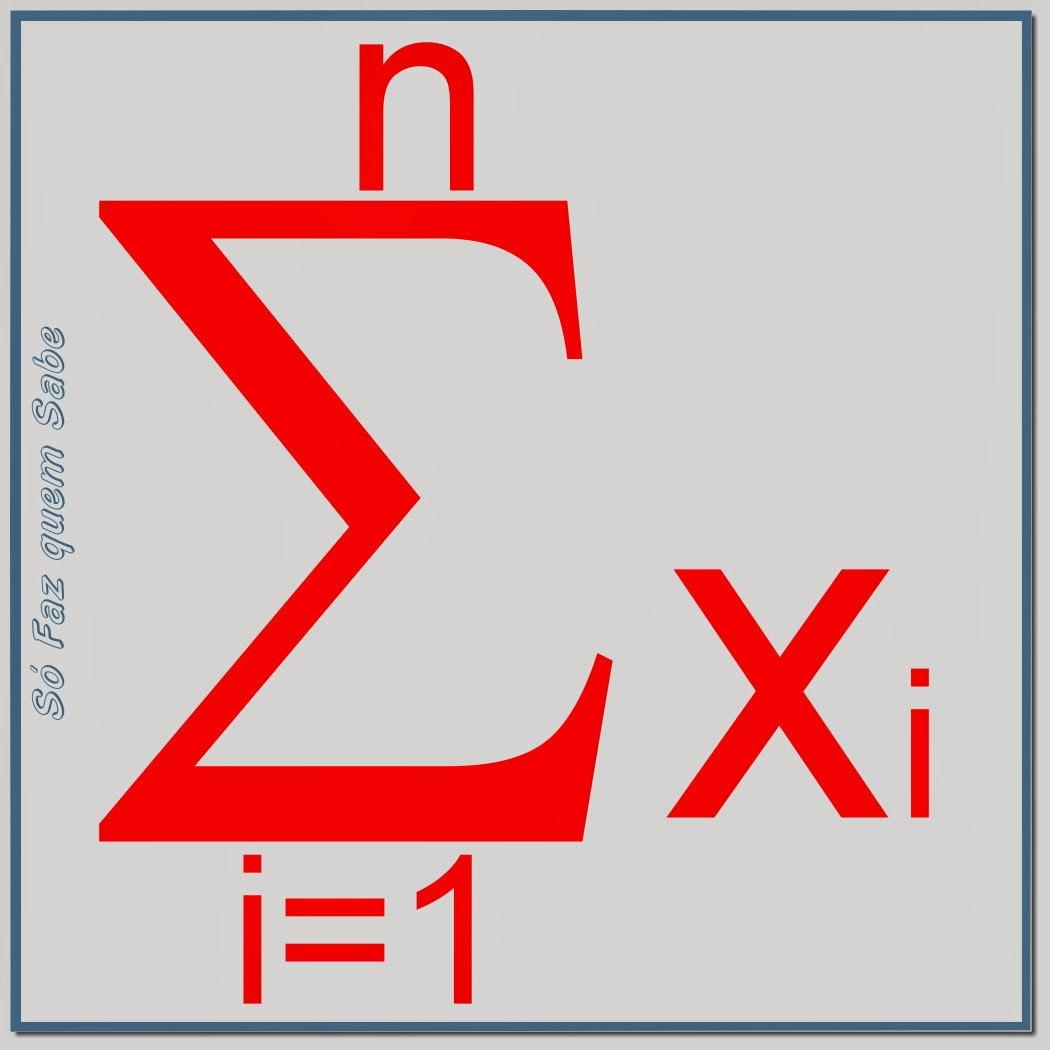 A letra grega sigma é o símbolo das somatórias definidas