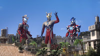 Ultraman Geed, Zero and Orb ready for action