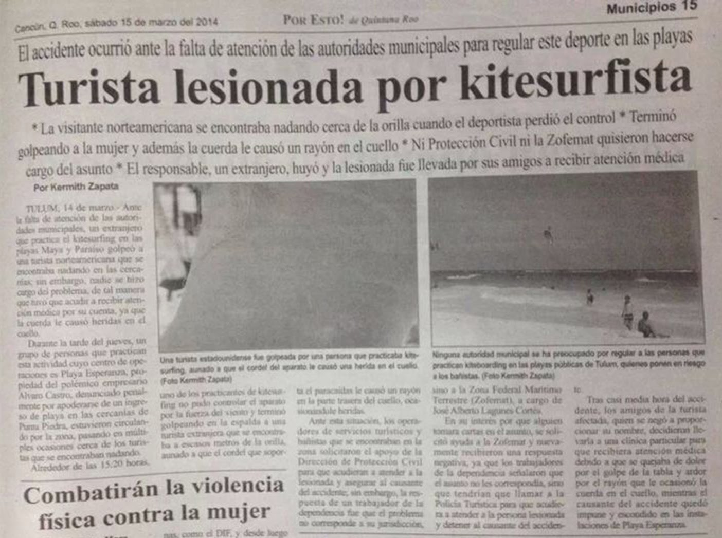 kitesurfing accident