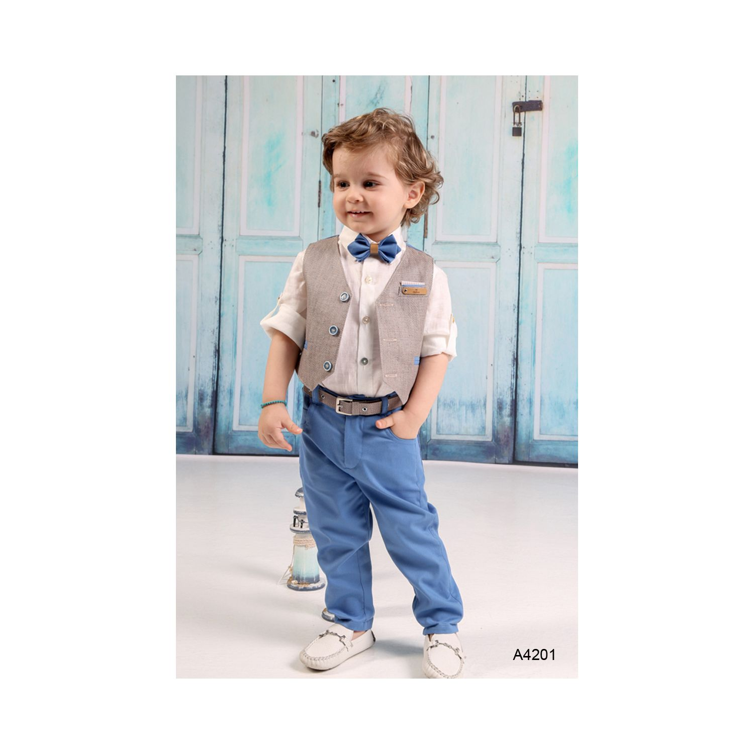 Modern Christening clothes for summer baptism A4201
