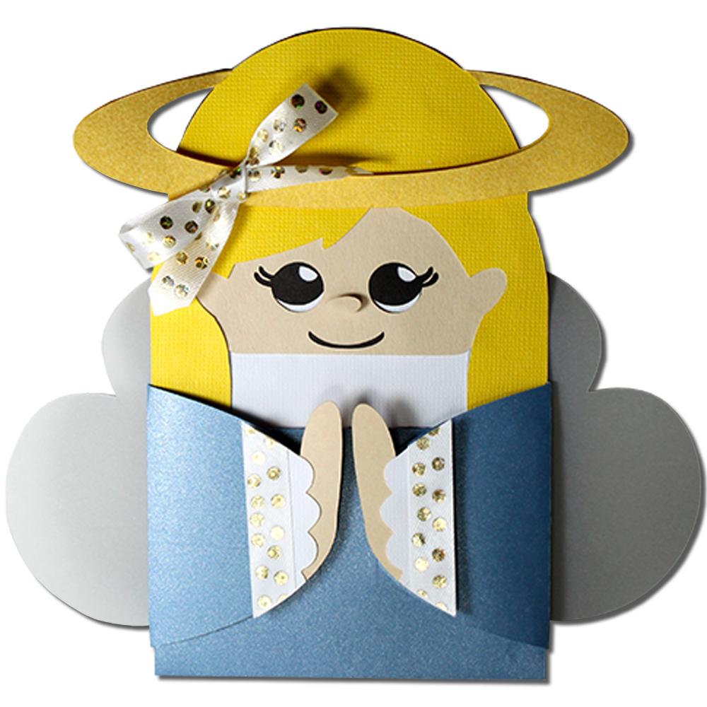 Jmrush Designs Angel Hug Gift Card Holder