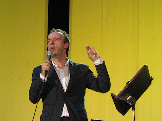 Roberto Benigni on stage in his touring  one-man show, TuttiDante