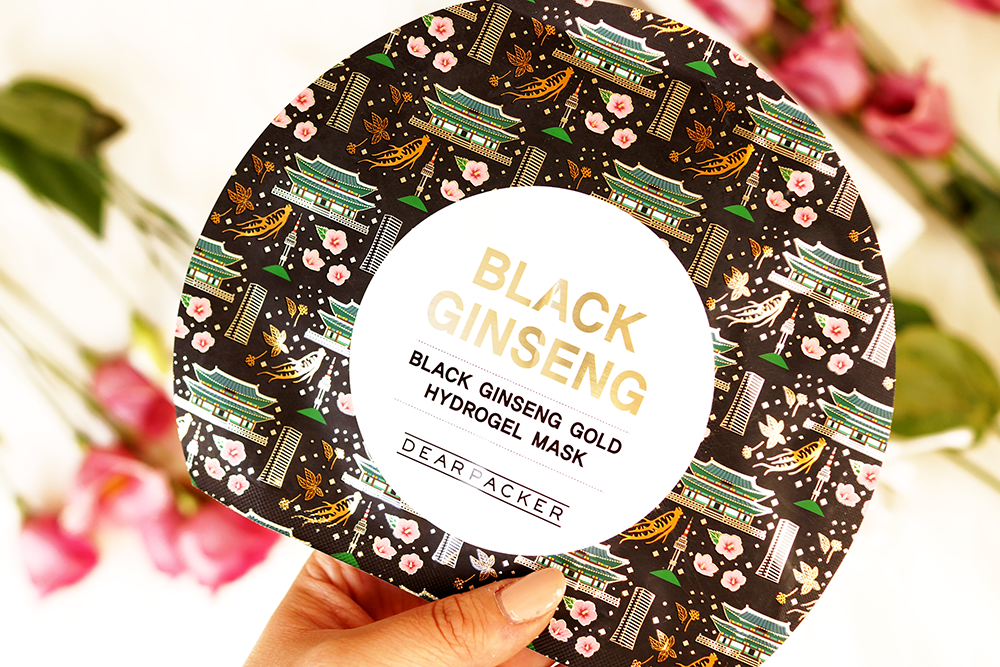 dearpacker-black-ginseng-gold-sheet-mask-hydrogel-review-korean-skincare