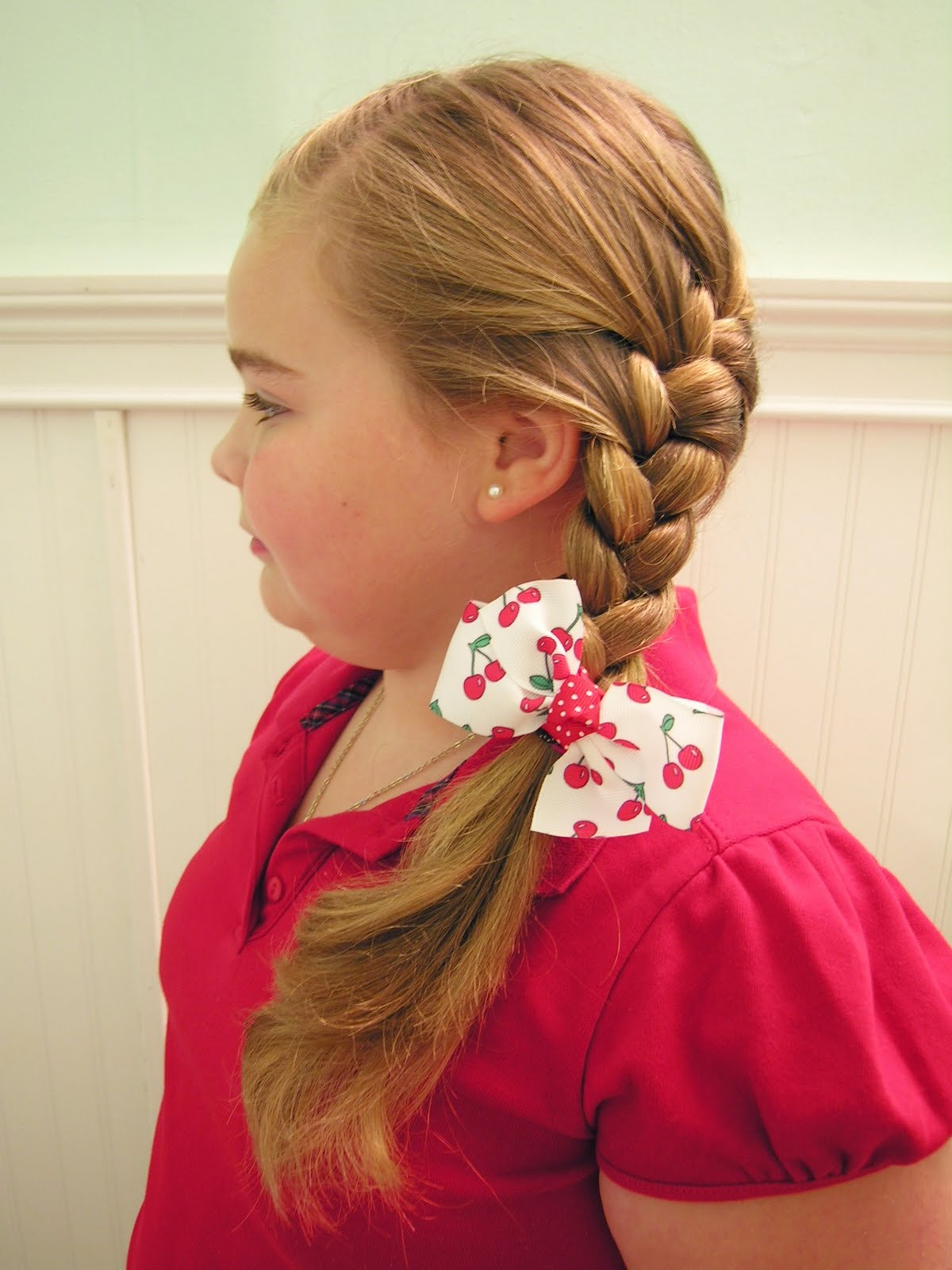 Angled French Braid and Waterfall Braid. 1200 x 1600.Hairstyles Braids Children
