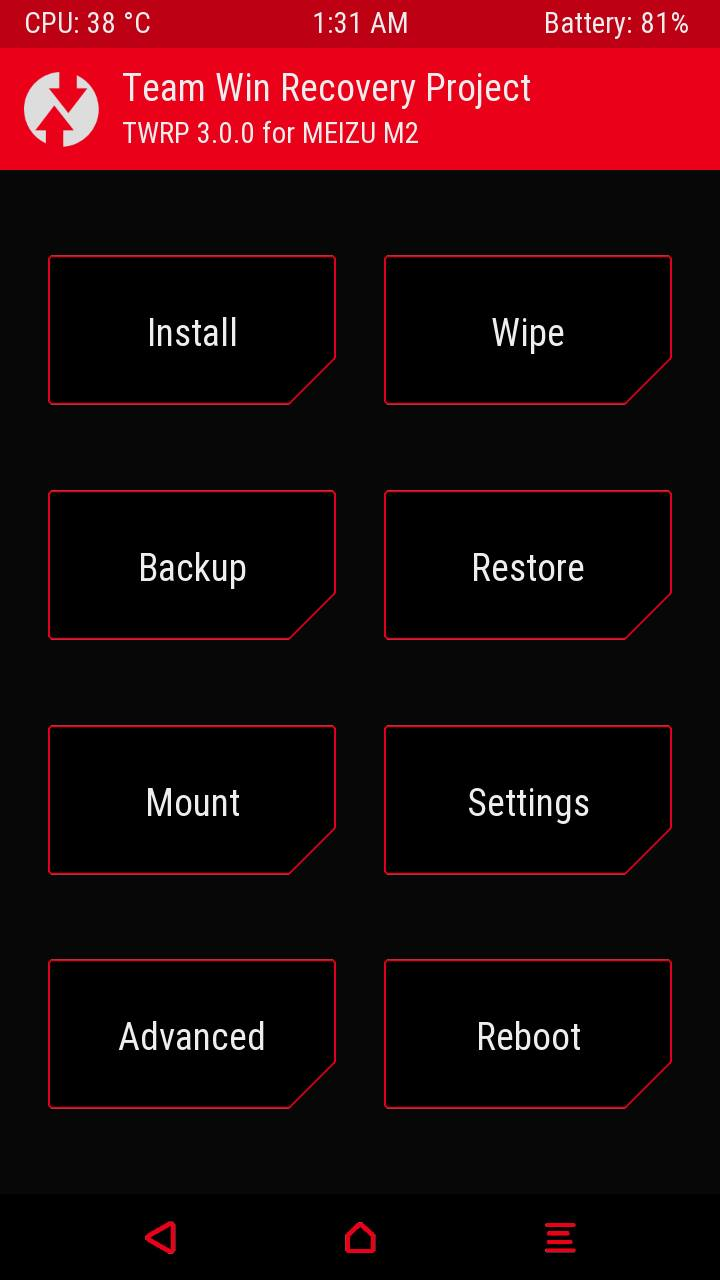 MT6735] [64Bit] [RECOVERY] Team Win Recovery Project - TWRP 3 0 for