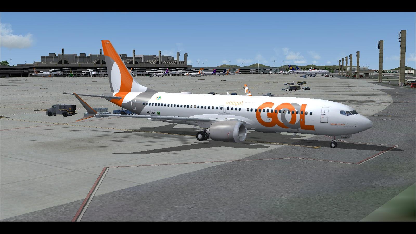 FSRepainter: TDS 737-MAX8 Gol PR-XMA