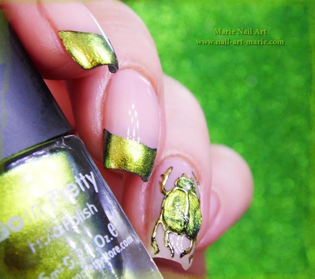 nail art scarabée3