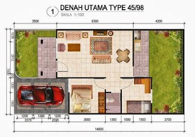 sketsa rumah minimalis ukuran 10x10
