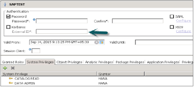 SAP HANA Authentications