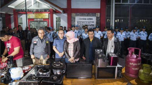 Barang-barang mewah yang berhasil disita saat Dirjenpas melakukan sidak di Lapas Sukamiskin Minggu (22/7/2018)pukul 19:00 WIB hingga Pukul 22: 25 WIB.
