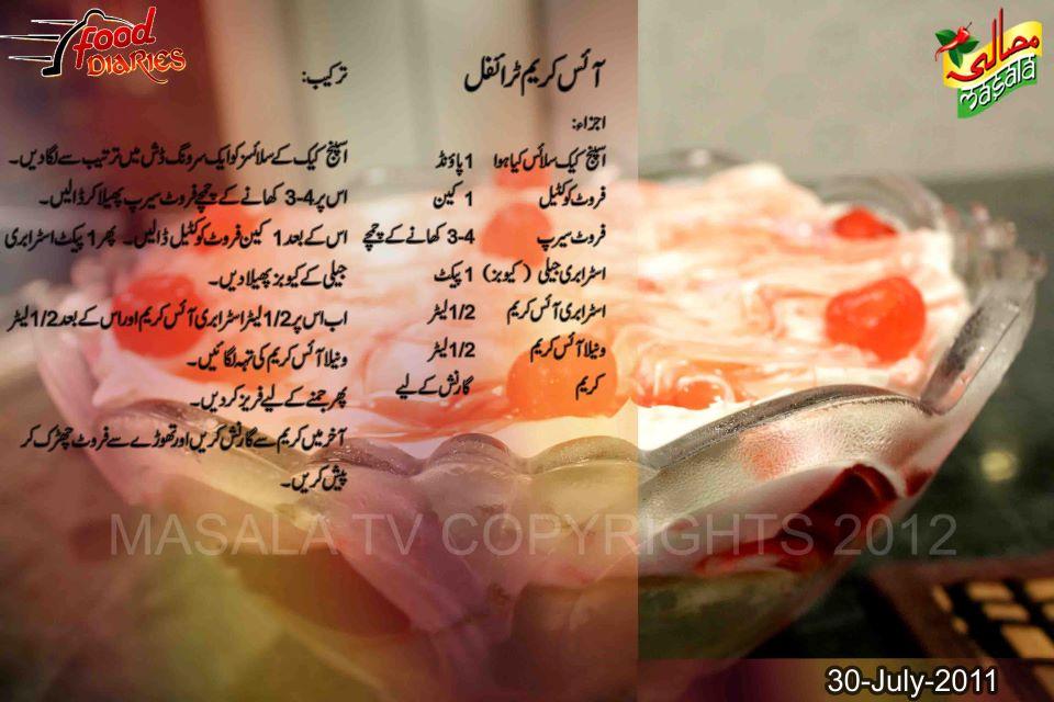 Freezer Cake Recipe In Urdu: Ingredients
