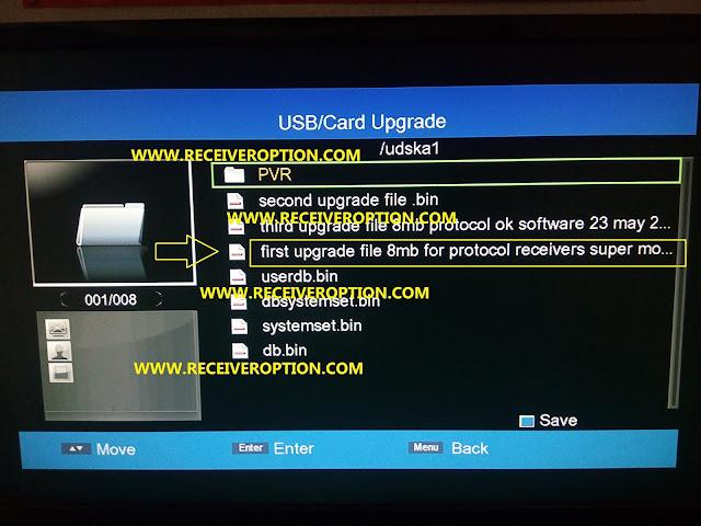 PROTOCOL 8MB HD RECEIVERS POWERVU KEY NEW SOFTWARE BY USB